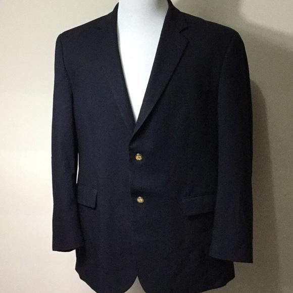 75025567d Men's Black Wool Calvin Klein Blazer